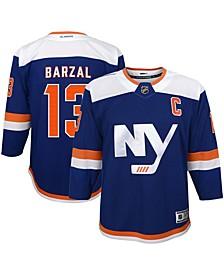 Youth Boys and Girls Mathew Barzal Royal New York Islanders Alternate Premier Player Jersey