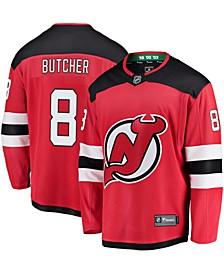Men's Will Butcher Red New Jersey Devils Home Breakaway Jersey