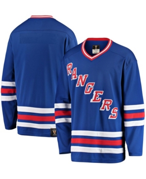 Men's Blue New York Rangers Premier Breakaway Heritage Blank Jersey