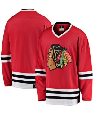Men's Red Chicago Blackhawks Premier Breakaway Heritage Blank Jersey