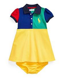 Baby Girls Big Pony Polo Dress and Bloomer, 2 Piece Set