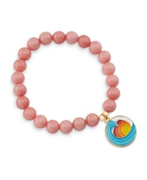 Gorgeous Gemstone Dream Big Bracelet with Wave Pendant