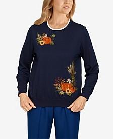 Plus Size Classics Pumpkins Pullover Top