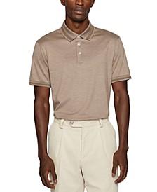 BOSS Men's Regular-Fit Cotton Silk Polo Shirt