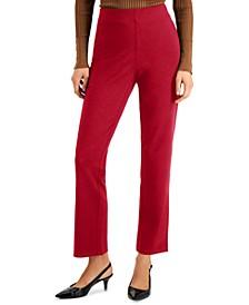 Petite Solid Ponté-Knit Pants, Created for Macy's