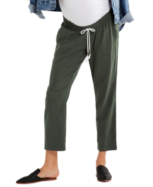 Under-Belly Cropped Maternity Pants