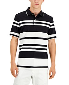 Men's Stretch Stripe Polo Shirt, Created for Macy's
