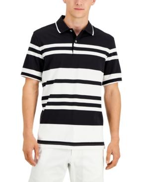 Men's Stretch Stripe Polo Shirt