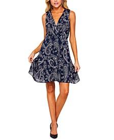 Juniors' Paisley-Print Dress