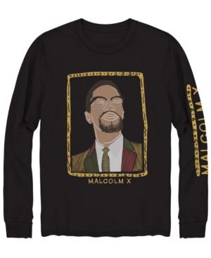 Men's Malcolm X Portrait Long Sleeve Graphic T-shirt