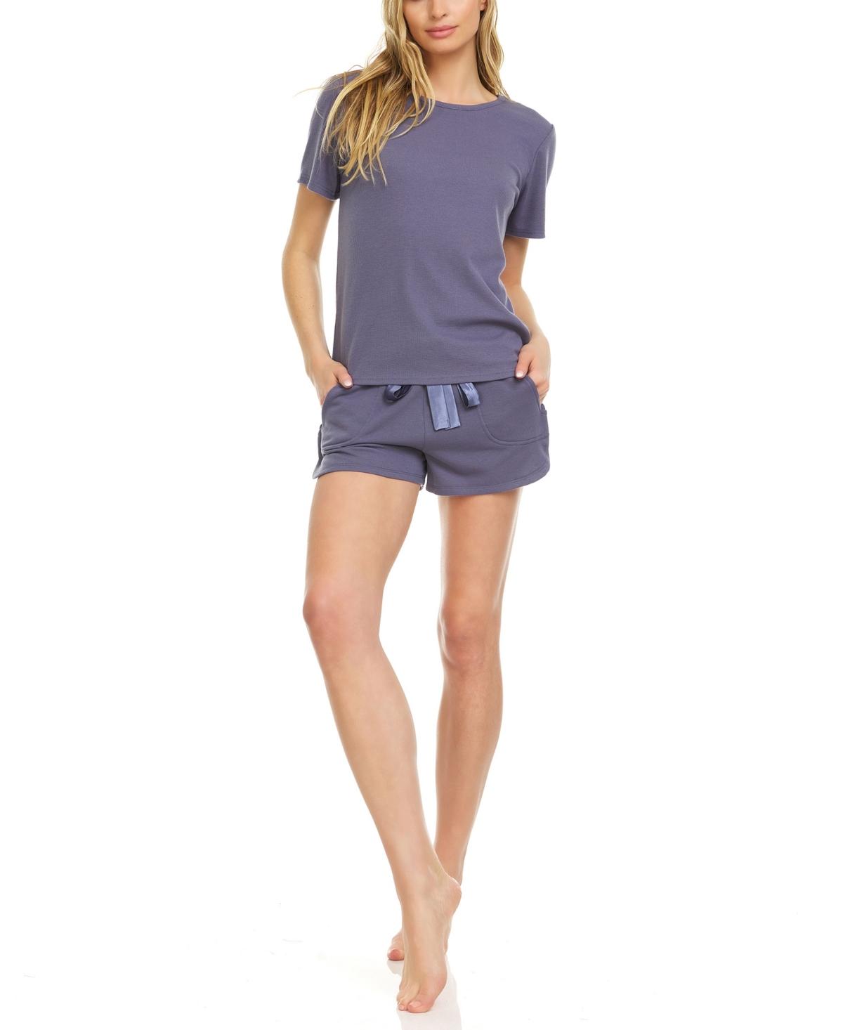 Women's Raven Knit Short Set, 2 Piece