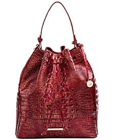 Marlowe Melbourne Embossed Leather Shoulder Bag