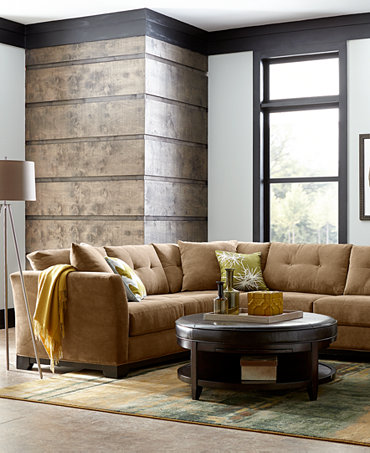 Elliot Fabric Sectional Living Room Furniture Collection Furniture Macy
