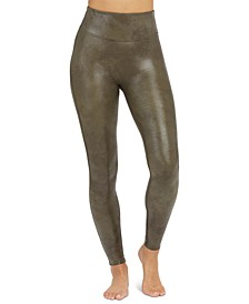 Faux Leather Croc Shaping Leggings