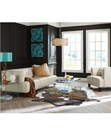 alessia leather sofa living room furniture collection - Living Room Leather Sofas