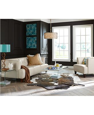 Macy's Living Room Furniture Alessia Leather Sofa Living Room Furniture Collection  Furniture