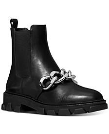 Women's Scarlett Lug Sole Chain Chelsea Booties
