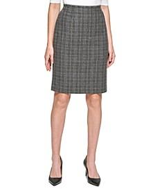 Petite Plaid Pencil Skirt