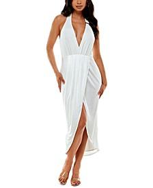 High-Low Halter Bodycon Dress