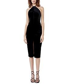 Alisa Velour Midi Dress