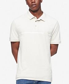Men's Liquid Touch Tipped Chest Stripe Polo Shirt