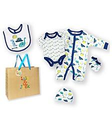 Baby Boys 5 Piece Dino Park Layette Gift Set