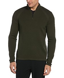 Men's Motion Textured Quarter Zip Sweater