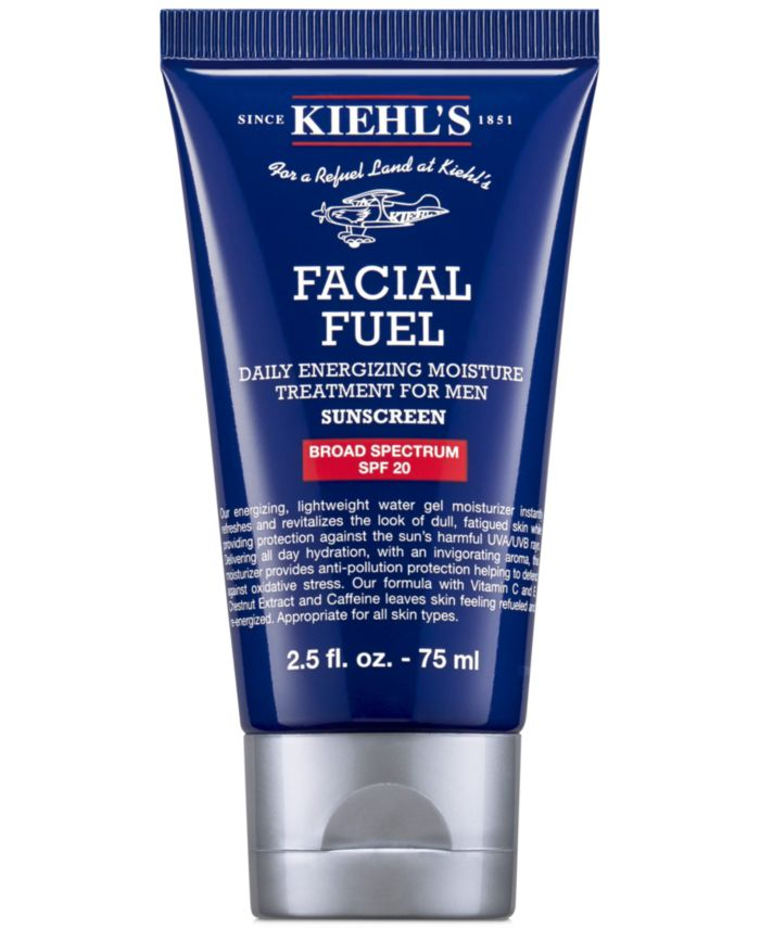 Kiehl's Since 1851 Facial Fuel Daily Energizing Moisture Treatment For Men SPF 20, 2.5 fl. oz. & Reviews - Skin Care - Beauty - Macy's