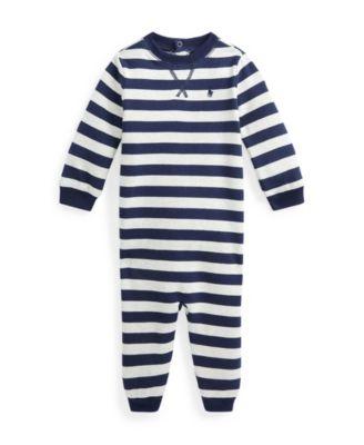 폴로 랄프로렌 Polo Ralph Lauren Baby Boys Fleece Coverall One Piece,French Navy