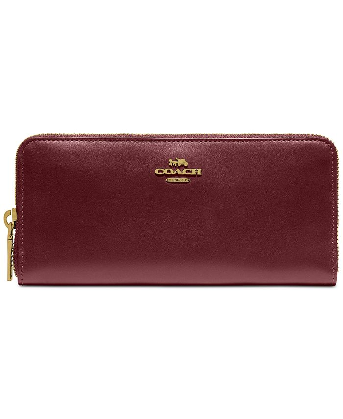COACH - Smooth Leather Accordion Zip Wallet