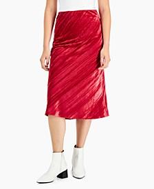 Textured Velvet Skirt