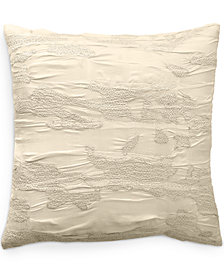 """CLOSEOUT! Donna Karan Home Reflection Ivory 18"""" Square Decorative Pillow"""