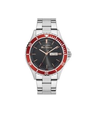 Men's Three Hands Day Date Silver-Tone Stainless Steel Bracelet Watch 44mm
