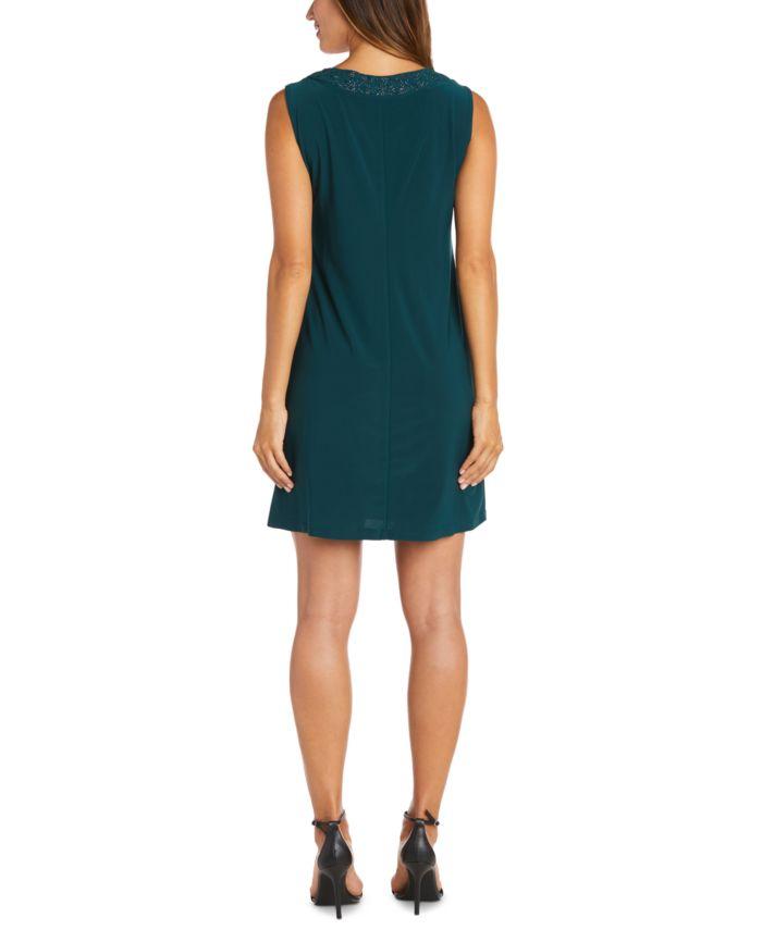 R & M Richards Plus Size Embellished Dress & Jacket & Reviews - Dresses - Plus Sizes - Macy's