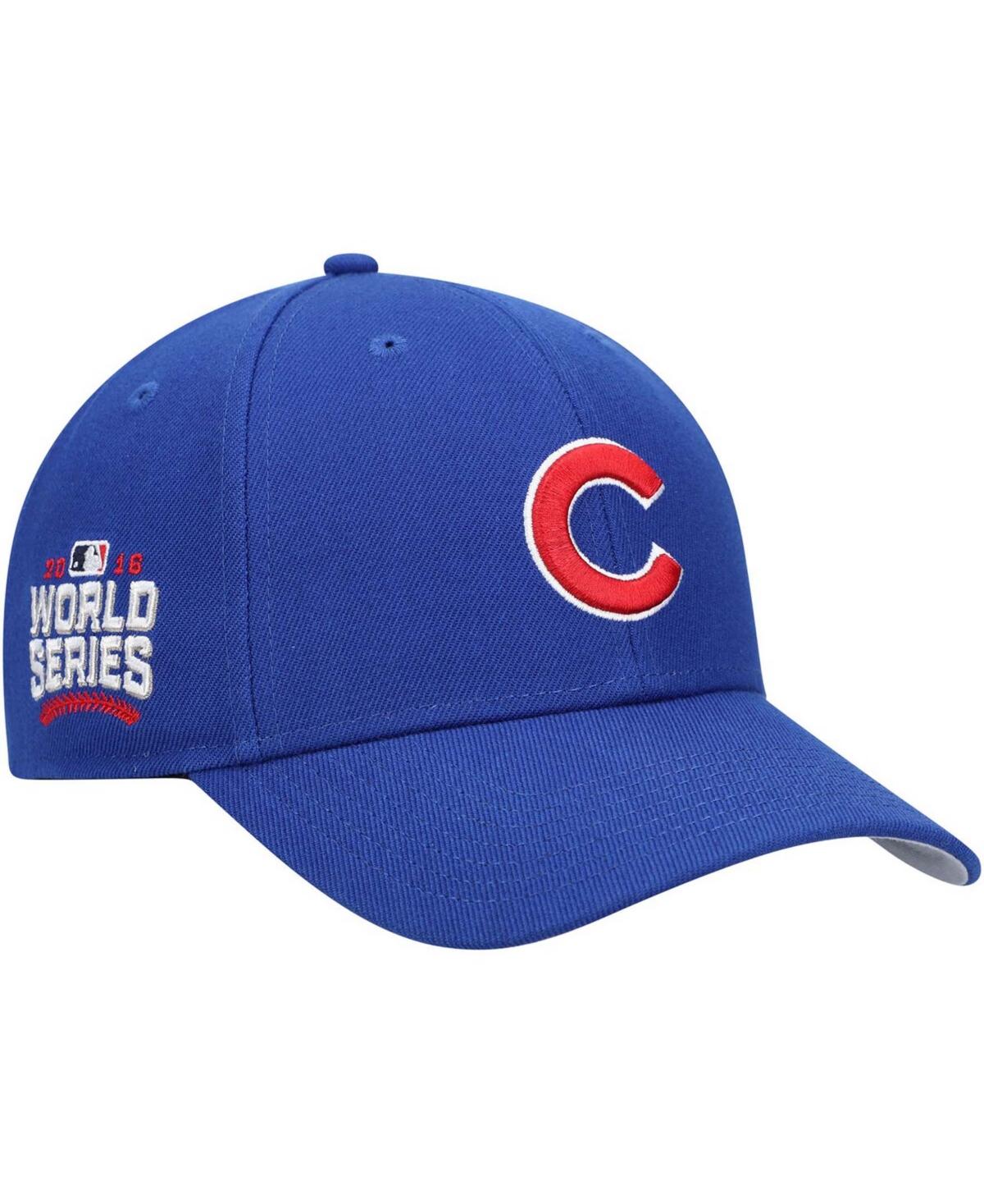 47 Brand Mens Royal Chicago Cubs 2016 World Series Sure Shot Mvp Snapback Cap