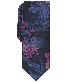 Men's Chavialle Botanical Skinny Tie, Created for Macy's