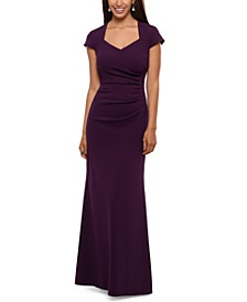 Ruffled Cutout-Back Gown