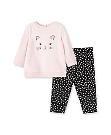 Baby Girls Kitty Sweatshirt and Legging, 2 Piece