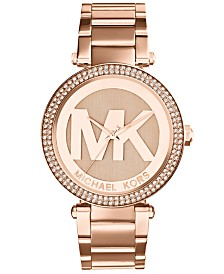 Michael kors watches macys michael kors womens parker rose gold tone stainless steel bracelet watch 39mm mk5865 gumiabroncs Images