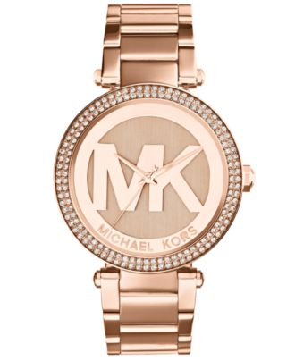 Michael Kors Women's Parker Rose Gold-Tone Stainless Steel Bracelet Watch 33mm MK5865
