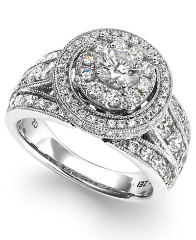 Diamond Round Engagement Ring in 14k White Gold (2-1/2 ct. t.w.)