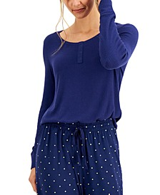 Ribbed Henley Pajama Top, Created for Macy's