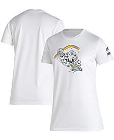 Women's White Anaheim Ducks Reverse Retro Creator T-shirt