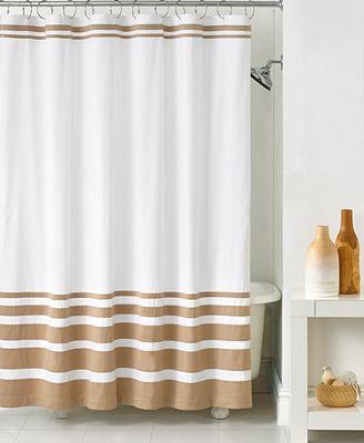 hotel collection gradient stripe shower curtain - shower curtains