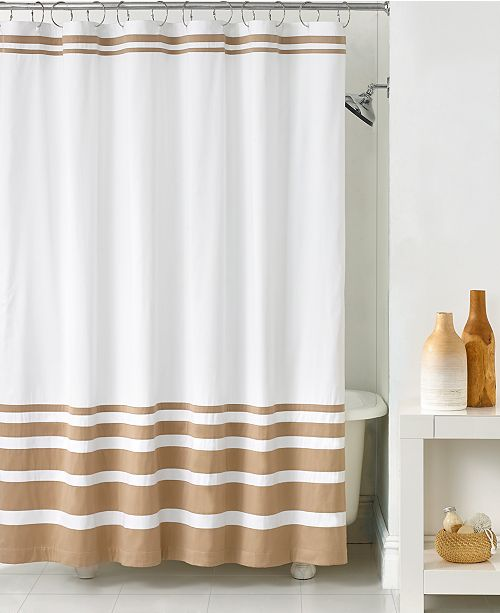 Hotel Collection Gradient Stripe Shower Curtain