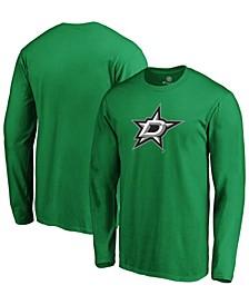 Men's Kelly Green Dallas Stars Primary Team Logo Long Sleeve T-shirt