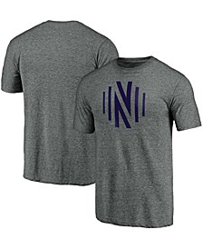 Men's Heathered Gray Nashville SC Monogram Logo Tri-Blend T-shirt