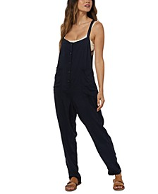 Juniors' Pacey Printed Overalls