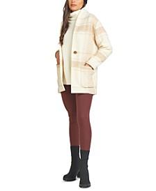 Shawl-Collar Cocoon Jacket