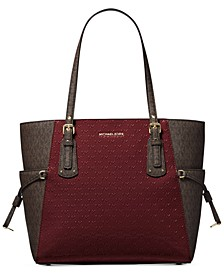 Signature Voyager East West Leather Tote